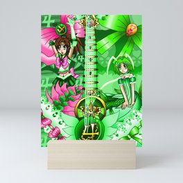 Sailor Mew Guitar #38 - Sailor Jupiter & Mew Retasu Mini Art Print