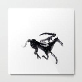 Horse girl Metal Print