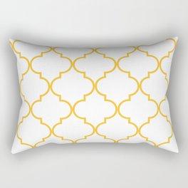 Quatrefoil - Butterscotch yellow Rectangular Pillow