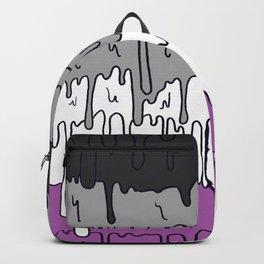 Cute Pride Pastel Melting Pride Design, Asexual  flag Backpack