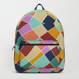 Retro Colored Church Window Pattern Backpack