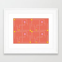 pacman Framed Art Prints featuring Pacman by CATHERINE DONOHUE