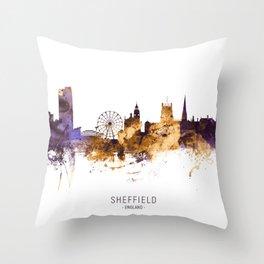 Sheffield England Skyline Throw Pillow
