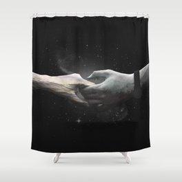 [LOVE] Sea meets Mountain - Hands Shower Curtain