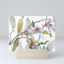 White and Pink Magnolias, Goldfish hiding, Surreal Mini Art Print