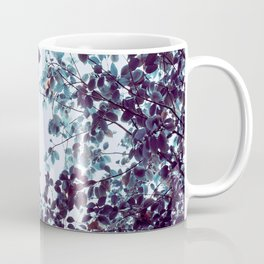 Magical Colorful Pastel Plant Leaves Pink Turquoise Coffee Mug