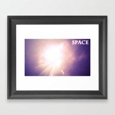 A space scene Framed Art Print