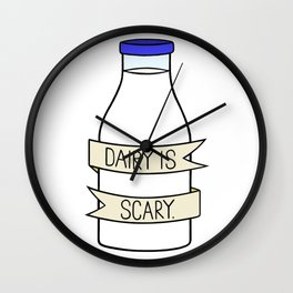 Dairy is Scary Wall Clock