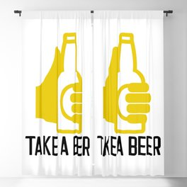Take a beer grabbing an ale Blackout Curtain