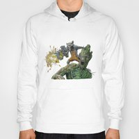 guardians of the galaxy Hoodies featuring Guardians by theMAINsketch