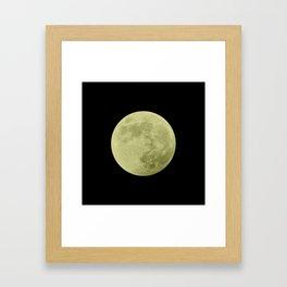 CANARY MOON // BLACK SKY Framed Art Print