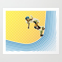 Skate Like a Girl Art Print