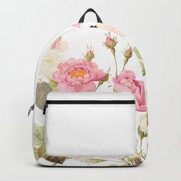 Vintage & Shabby Chic - Sepia Roses Flower Garden Backpack