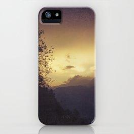 Sunrise in the Italian Alps iPhone Case
