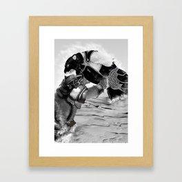 Iorek Byrnison Fights. Framed Art Print