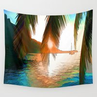 paradise Wall Tapestries featuring Paradise by Robin Curtiss