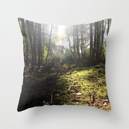 Mossy Floor. Rushmere Country Park, Bedfordshire. UK Throw Pillow