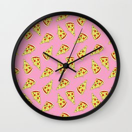 Pizza Pattern By Everett Co Wall Clock