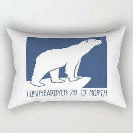 Svalbard Norway Arctic Polar Bear T-Shirt Longyearbyen Spitsbergen Northern Lights Rectangular Pillow