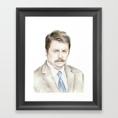 Swanson Watercolor Ron Framed Art Print