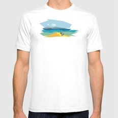 The passage MEDIUM White Mens Fitted Tee