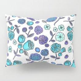 Blue Velvet Roses Pillow Sham