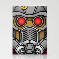 star lord Stationery Cards featuring Star Lord by Ryan the Foe