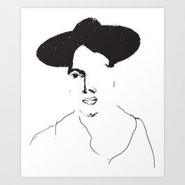 Black hat Art Print