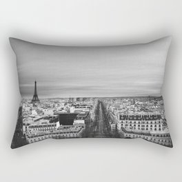 Black and White Paris Rectangular Pillow