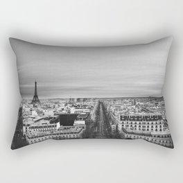 Black and White Paris Rectangular Pillow
