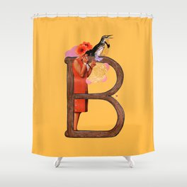 """A TO Z - """"B"""" Shower Curtain"""