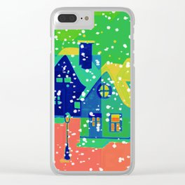 Christmas Greetings Clear iPhone Case