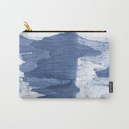 Dark slate blue watercolor Carry-All Pouch