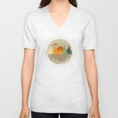 Textures/Abstract 104 Unisex V-Neck