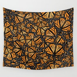 Monarch Butterflies, So Many Monarchs! No gaps! Wall Tapestry