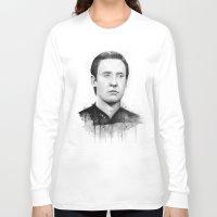 data Long Sleeve T-shirts featuring Star Trek: Data by Olechka