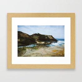 Girl on the Oregon Cliffs Framed Art Print