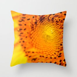In your face yellow Throw Pillow