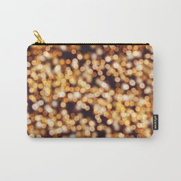 Abstract glitter blurred yellow light Carry-All Pouch