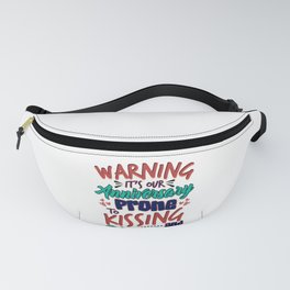 Wedding Our Anniversary Warning Prone to Kissing and Hugging Fanny Pack