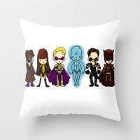 watchmen Throw Pillows featuring watchmen by Space Bat designs