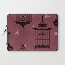 Rasberry Empty Brid Cages Laptop Sleeve