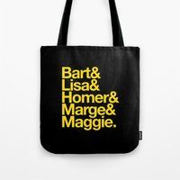 simpsons Tote Bags featuring Simpsons by Outside In