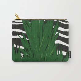 ZEBRA PALM WINTER GREEN Carry-All Pouch
