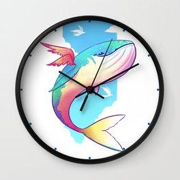The Sky Whale Wall Clock