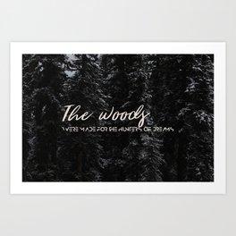Woods Dreams Art Print