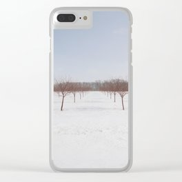 Frozen Orchard Clear iPhone Case