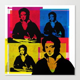 PERCY BYSSHE SHELLEY - ENGLISH POET, 4-UP POP ART COLLAGE Canvas Print