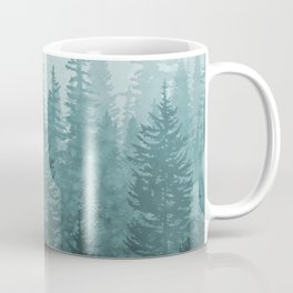 My Misty Secret Forest - turquoise green Coffee Mug