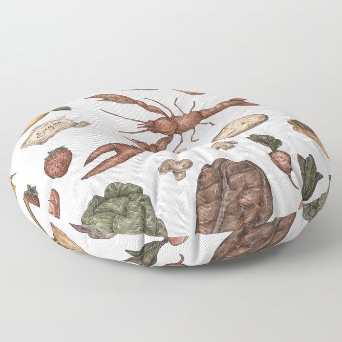 Food Floor Pillow